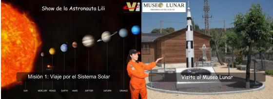 """Sábado 21 de abril de 2018: """"Visita al Museo Lunar + Show de la Astronauta Lili"""" (Completa la Misión 1)"""