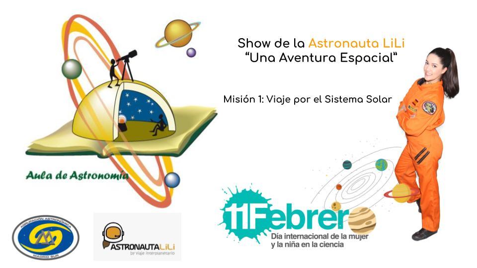 16 de febrero celebra conmigo el día de la Mujer y la Niña en la Ciencia en el Aula de Astronomía de Fuenlabrada (Madrid)
