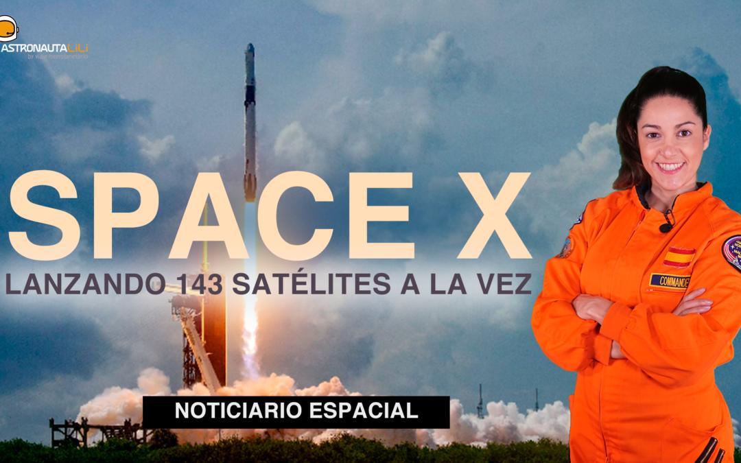 ¡Space X lanza 143 satélites a la vez!