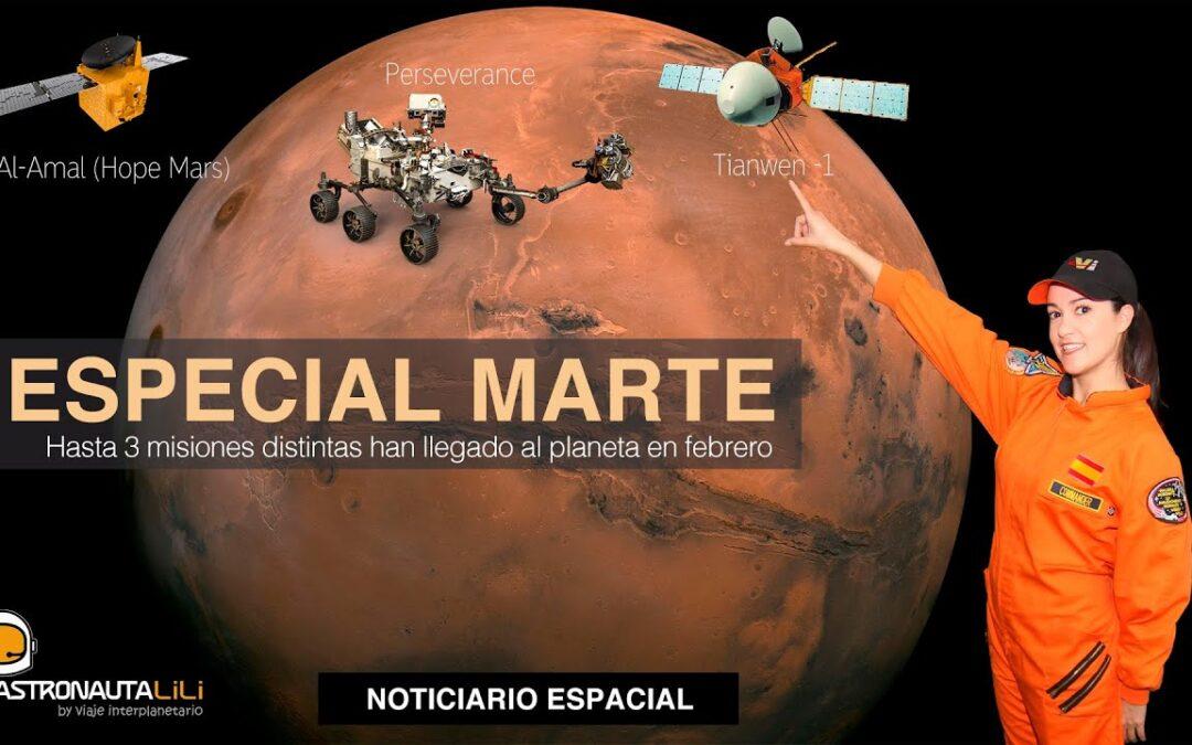 Especial Marte | Rover Perseverance | Satélite Al- Amal | Misión China Tianwen – 1