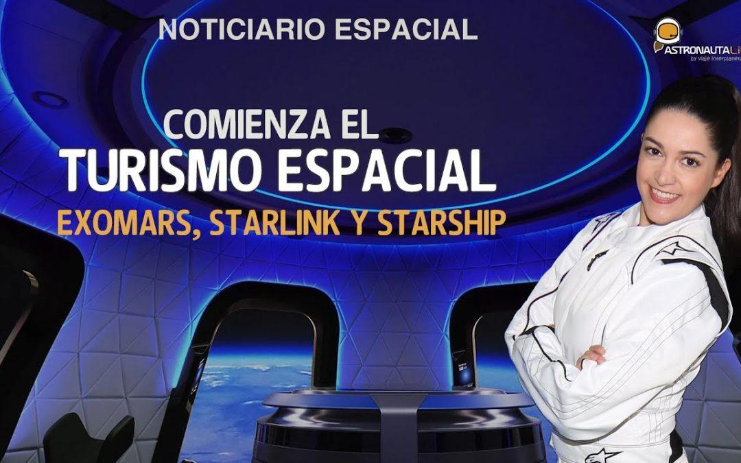 Vuelos turísticos al espacio | Rover Exomars listo | Starship aterriza | Falcon 9 reusado 10 veces