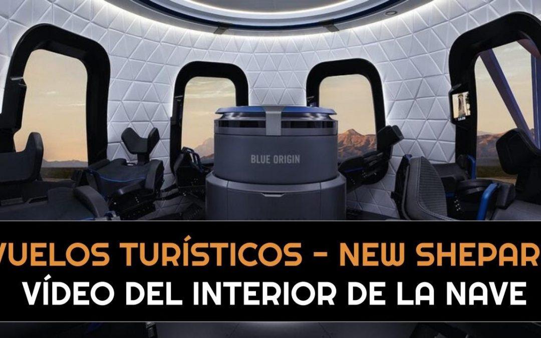 Primeras imágenes del interior de la nave New Shepard de Blue Origin I Turistas espaciales